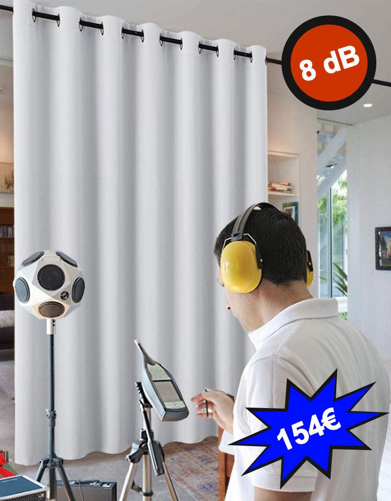 Cortina de aislamiento acústico 8 dB